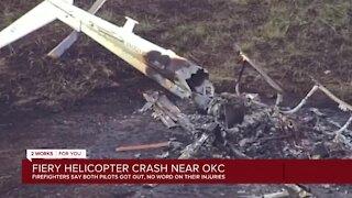 Firefighters respond to fiery helicopter crash near Oklahoma City