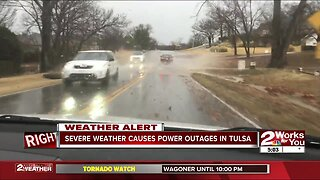 Severe Weather Causes Power Outages in Tulsa