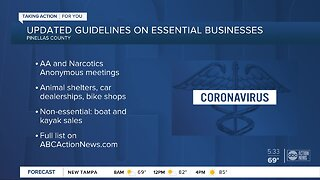 Pinellas County updates list of essential services under 'safer-at-home' order