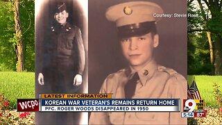 Korean War veteran's remains returned home 69 years later
