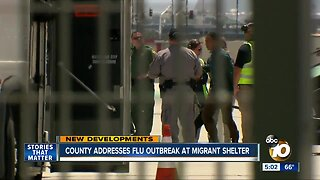 San Diego County addresses flu outbreak at migrant shelter