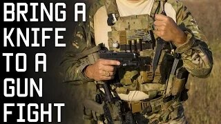 Why You SHOULD Bring a Knife to a Gunfight   Special Forces Combat Techniques   Tactical Rifleman