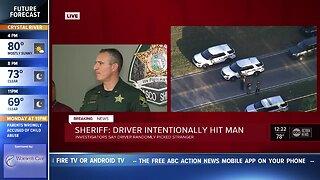 Pasco Sheriff: Driver intentionally ran over random pedestrian