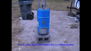 First FEMA Gasifier Build Video 01 - 12/09/2012