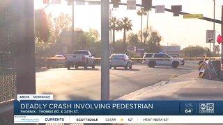 Pedestrian hit, killed near 24th Street and Thomas Road