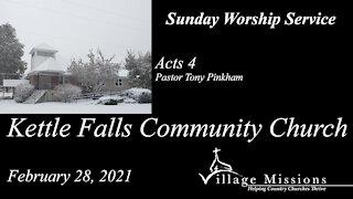 (KFCC) February 28, 2021 - Acts 4 - Sunday Worship