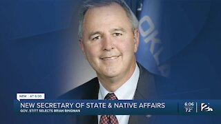 Gov. Stitt selects new secretary of state and Native American affairs
