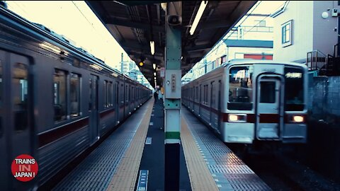 Can You Find Them? 18 Minutes of Japan Trains Arriving & Departing the Station in Tokyo - 60fps