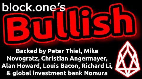 🔵 Block.one's BULLISH: $20B Exchange Funded by Major Billionaire Investors. Good for EOS Price?