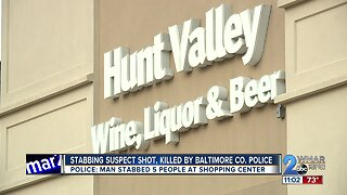Hunt Valley stabbing suspect shot, killed by police