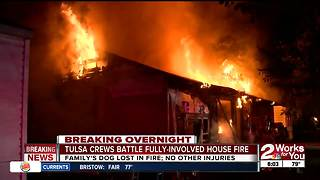 Family pet lost in overnight house fire