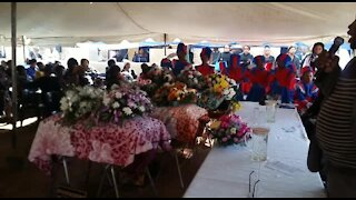 funeral service for three children who by their father (videos) (ano)