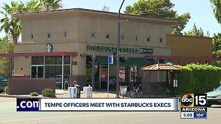 Starbucks execs, police meet after incident in Tempe shop