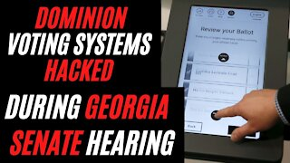 Dominion Voting Systems HACKED DURING Georgia Senate Subcommittee Hearing on Election Fraud 2020