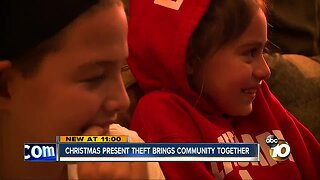 After gifts were stolen, family gets overwhelming support from strangers