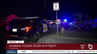 Woman found dead in middle of Chula Vista street