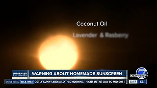 Dangers of homemade sunscreen