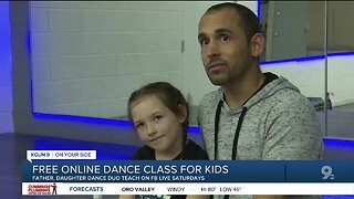 Tucson Father, Daughter dance duo offers free online fitness class for kids