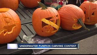 """Underwater pumpkin contest provides a """"chilling"""" experience in time for Halloween"""