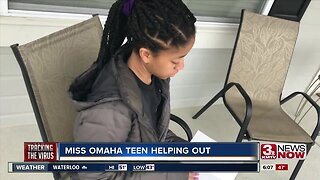 Miss Omaha Outstanding Teen Helping Out