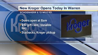 New Kroger opens today in Warren