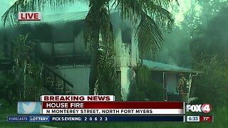 Structure fire damages house on Monterey Street in North Fort Myers