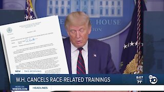 Pres. Trump cancels race-related training sessions in federal agencies