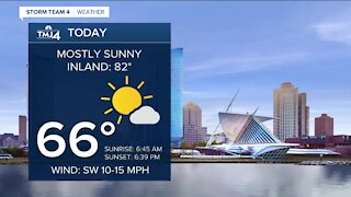 Southeast Wisconsin weather: Mostly sunny and beautiful Monday