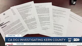 California Department of Justice investigating Kern County