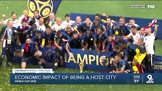 What is the economic impact of Cincinnati hosting a World Cup game?