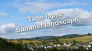 Time lapse - Summer landscape with moving clouds - Relaxing music Sleepy Hollow by E's Jammy Jams