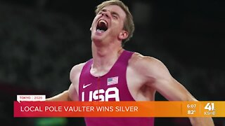 Local pole vaulter wins silver medal in Tokyo