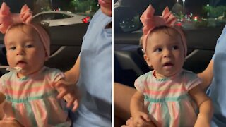Baby literally can't believe how delicious this treat is