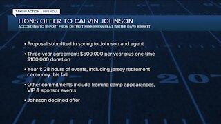 Report: Johnson declines Lions offer