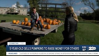 5-year-old sells pumpkins to raise money for others