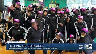 Helping kids go places: Mother-daughter duo step team