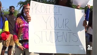 Baltimore City students walk out of class demanding the district do more about sexual assault allegations