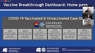 Full news conference: CDPHE unveils COVID-19 vaccine breakthrough dashboard