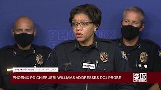 RAW: Phoenix Police Chief Jeri Williams responds to DOJ investigation into Phoenix Police Department