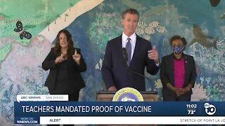Teachers mandated Proof of Vaccine