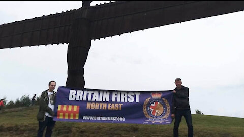 Britain First activists hold recruitment drive in Gateshead!
