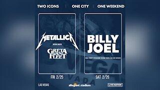 Metallica, Billy Joel to perform in 2022 at Allegiant Stadium in Las Vegas