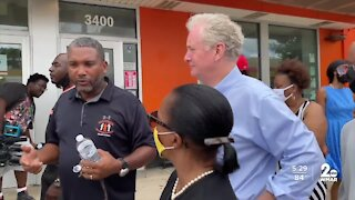 Senator Van Hollen tours Baltimore City
