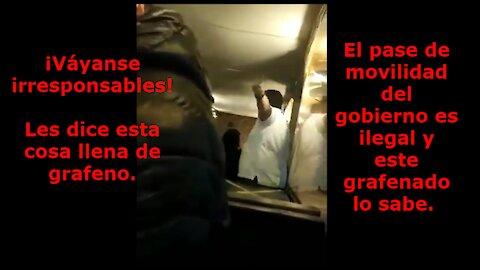 ¡INSÓLITO! grafenado violento expulsa a clientes sin pase de movilidad ilegal de local en Temuco