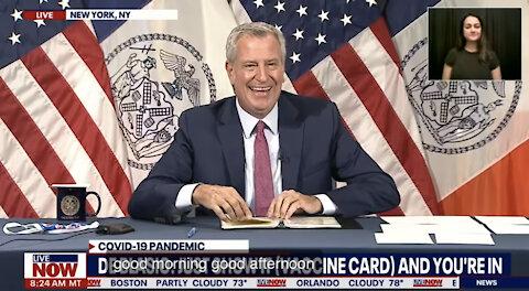 Mayor Bill de Blasio Suspends the Constitution in NYC. #Key2NYC