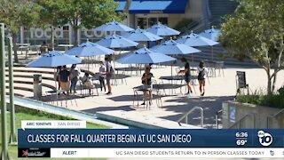 UC San Diego starts classes for fall quarter