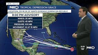Tracking Tropical Depression Grace
