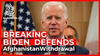 Biden defends Afghanistan withdrawal after Taliban takeover