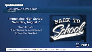 Immokalee backpack giveaway for those still needing school supplies