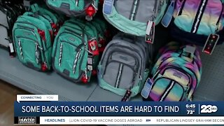 Some back-to-school items are hard to find